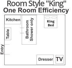 King Room Layout